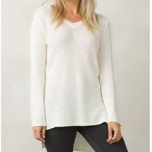 Prana Deedra V-Neck Tunic Sweater, Size Small